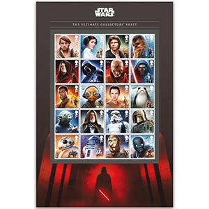 2017 Royal Mail Star Wars The Ultimate Collectors Sheet