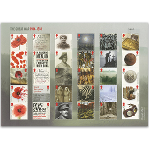 2018 WWI Royal Mail Composite Sheet