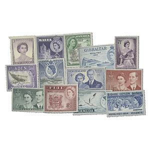 1954 Royal Visit - Set of 13 Stamps