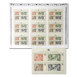 London 2010 Festival Stamps Uncut Press Sheet