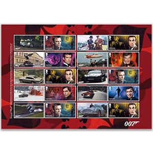 2020 James Bond Collectors Sheet