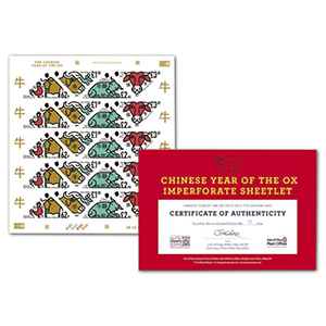 IOM 2021 Year of the Ox Imperforate Sheetlet