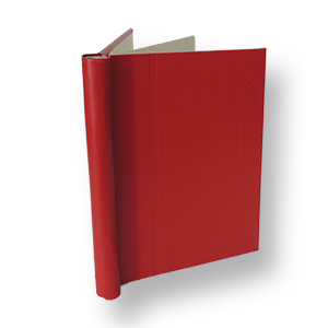Standard Springback Binder with Plain Spine and Gold Foil Album Spine Label Sheet. Size 290 X 265mm
