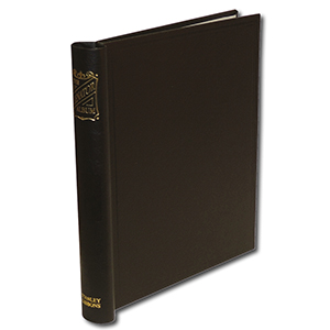 Senator Standard Album Binder in Black with Gold Blocked Spine. Size: 290 X 265mm