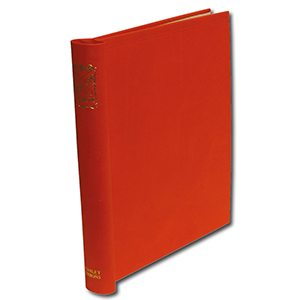 Senator Standard Album Binder in Red with Gold Blocked Spine - Size: 290 X 265mm
