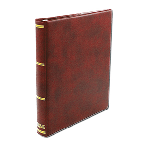 Stanley Gibbons Universal Cover Album with Leaves (RED)