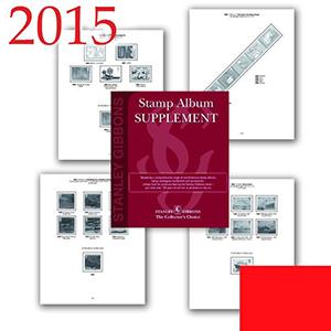 2015 Gb & Fs Set Luxury Hingeless Album Supplement