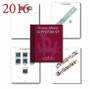 2016 Gb & Fs Set Luxury Hingeless Album Supplement