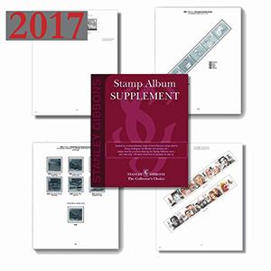 2017 Gb & Fs Set Luxury Hingeless Album Supplement