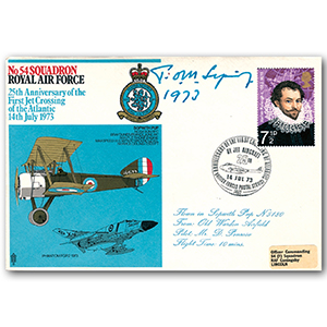 1973 No.54 Squadron, 25th Anniversary Jet Crossing the Atlantic - Signed Sir T Sopwith