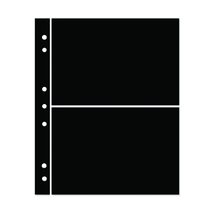 Hagner 2-Strip Single Sided Black Stocksheets