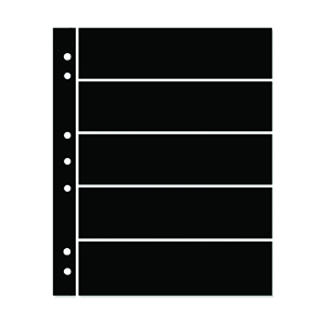Hagner 5-Strip Single Sided Black Stocksheets