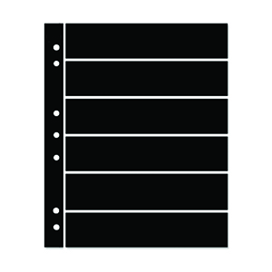Hagner 6-Strip Single Sided Black Stocksheets