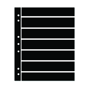 Hagner 7-Strip Double Sided Black Stock Pages