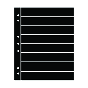 Hagner 8-Strip Single Sided Black Stocksheets