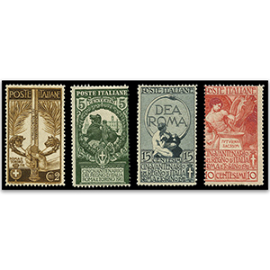 Italy S.G.86-9 1911 Jubilee 4v m/m