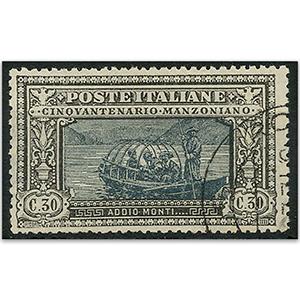 Italy S.G.157 Manzoni 30c black used