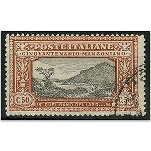Italy S.G158 1923 Manzoni 50c chestnut used