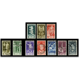 Italy S.G.506-15 1937 Augustus set 10  used