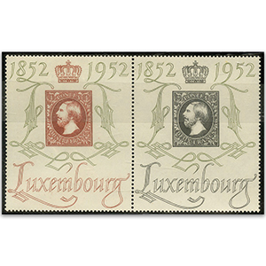 Luxembourg 552f-552a U.M. 1952 pr