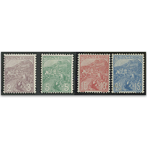 Monaco 1919 War Orphans part set 2c - 25c l/m
