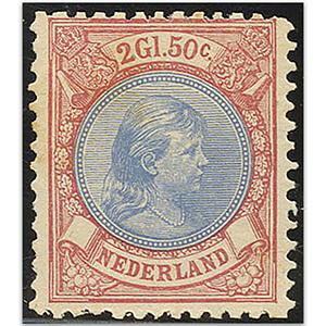 Netherlands S.G.161 1893-8  2g50 Ultramarine & rosine u/m
