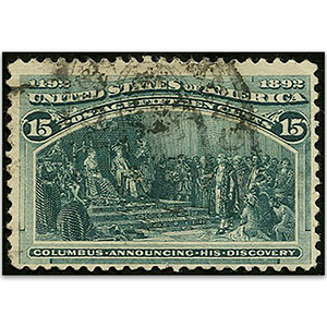 U.S.A.  S.G.243 1893 Columbus 15c Green  used
