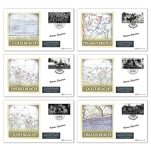 2019 D-Day BS Set of 6 Covers - Signed by Veterans