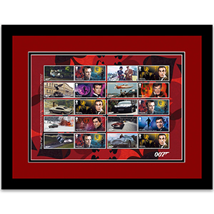 James Bond Collectors Sheet Framed