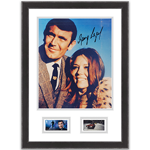 George Lazenby Signed Photo Framed