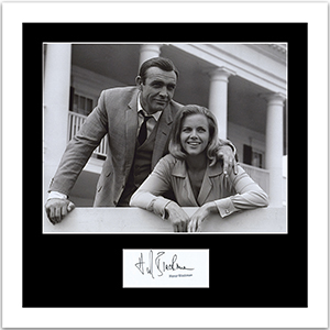 Honor Blackman Signature Framed