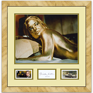 Shirley Eaton Signature Framed