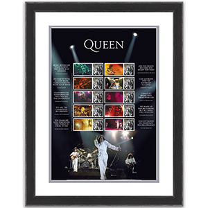Queen Live Collectors sheet Framed