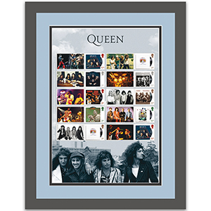 Queen Album Cover Collectors sheet Framed