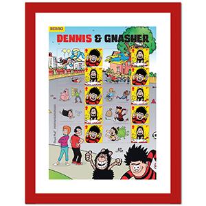 Dennis & Gnasher Collector Sheet Framed Edition