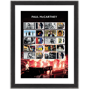 Paul McCartney Collectors Sheet Framed Edition
