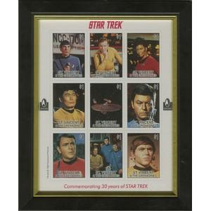 Star Trek 30 Years Stamp Sheet - Framed