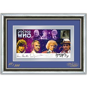 Doctor Who Multi Signed Framed Cover