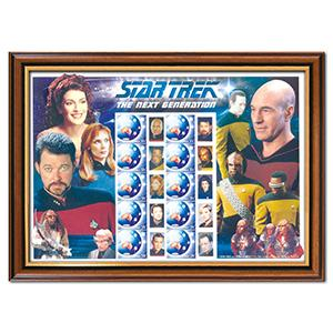 Star Trek: The Next Generation Framed Australia Post Stamp Sheet