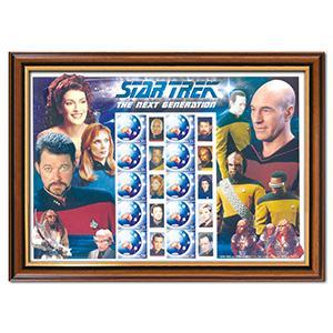 Star Trek: The Next Generation Framed Australia Post Stamp Sheet