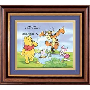 Winnie the Pooh framed stamp sheet