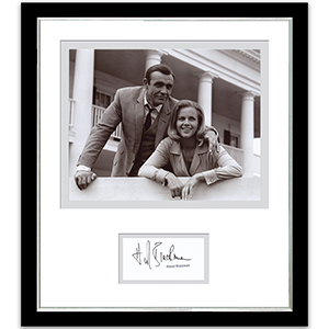Honor Blackman Signed Frame
