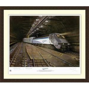 Channel Tunnel Print signed by Rail Artist Terence Cuneo