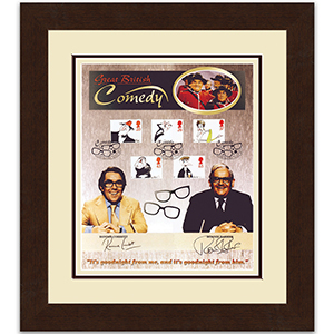 The Two Ronnies signed card - Framed