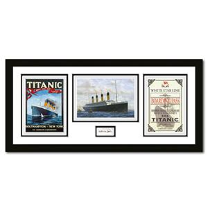 Titanic Montage Framed -  Signed by Millvina Dean