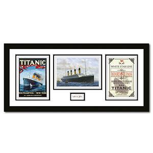 Titanic Montage Framed -  Signed by Millvina Dean