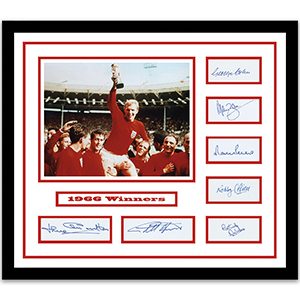 1966 World Cup Winners Signed Framed Collectible
