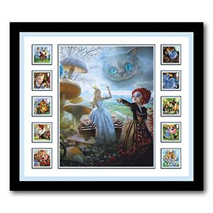 2015 Alice in Wonderland Stamps & Image - Framed Collectable