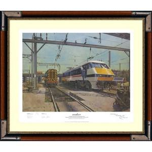 Terence Cuneo Intercity - Signed Print - Framed