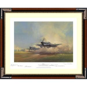 FRANK WOOTON 'Typhoon' Multi Signed Framed Print